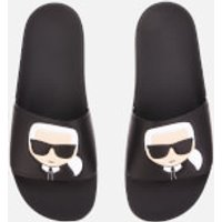 Karl Lagerfeld Men's Kondo Karl Ikonik Slide Sandals - Black - UK 6