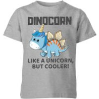Big and Beautiful Dinocorn Kids' T-Shirt - Grey - 11-12 Years - Grey