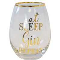 Eat Sleep Gin Repeat Glass Tumbler