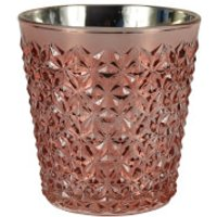 Glass Wax Filled Pot - Rose Gold, Orange and Cinnamon Scent