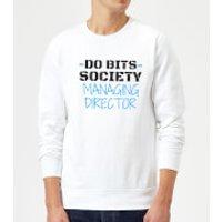 Big and Beautiful Do Bits Managing Director Sweatshirt - White - XL - White