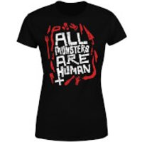 American Horror Story  All Monsters Are Human Tools Women's T-Shirt - Black - XXL - Black - Tools Gifts
