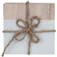 Tide Coasters - Brown (Set of 2) - Brown Gifts