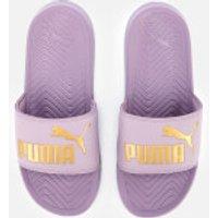 Puma Women's Popcat Slide Sandals - Elderberry/Puma Team Gold - UK 6 - Purple