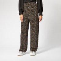 Ganni Women's Mullin Georgette Trousers - Black - EU 36/UK 8 - Black