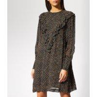 Ganni Women's Mullin Georgette Mini Dress - Black - EU 38/UK 10 - Black