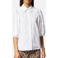 Ganni-Womens-Olayan-Shirt-Bright-White-EU-36UK-8-White