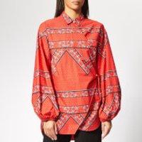 Ganni Women's Faulkner Shirt - Fiery Red - EU 36/UK 8 - Red