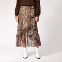 Ganni Women's Tilden Mesh Maxi Skirt - Leopard - EU 40/UK 12 - Multi