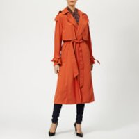 MICHAEL MICHAEL KORS Women's Drapey Trench Coat - Bright Terra Cotta - M - Orange