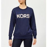 MICHAEL MICHAEL KORS Women's Kors Stud Sweatshirt - True Navy - XS - Navy