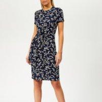 MICHAEL MICHAEL KORS Women's Woven Mini Dress - True Navy/Jasmine Yellow - S - Navy