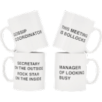 Office Mugs - 4 Pack - Office Gifts
