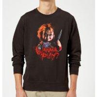Sudadera Chucky Wanna Play? - Hombre - Negro - XL - Negro