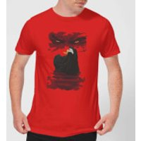 Universal Monsters Dracula Illustrated Mens T-Shirt - Red - S - Red
