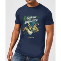 Universal Monsters Creature From The Black Lagoon Vintage Poster Men's T-Shirt - Navy - S - Navy