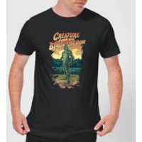 Universal Monsters Creature From The Black Lagoon Illustrated Men's T-Shirt - Black - S - Black