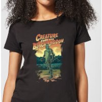 Universal Monsters Creature From The Black Lagoon Illustrated Women's T-Shirt - Black - XXL - Black