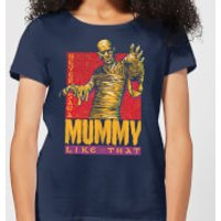 Universal Monsters The Mummy Retro Women's T-Shirt - Navy - M - Navy
