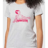 Universal Monsters Bride Of Frankenstein Crest Women's T-Shirt - Grey - 5XL - Grey
