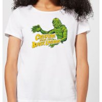 Universal Monsters Creature From The Black Lagoon Crest Women's T-Shirt - White - XS - White