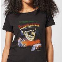 Universal Monsters Frankenstein Vintage Poster Women's T-Shirt - Black - XL - Black
