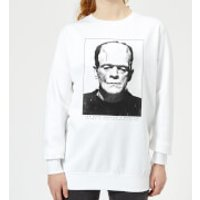 Universal Monsters Frankenstein Portrait Women's Sweatshirt - White - 5XL - White