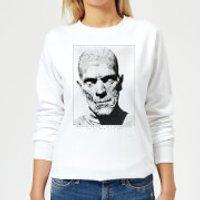 Universal Monsters The Mummy Portrait Women's Sweatshirt - White - L - White