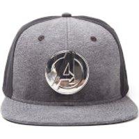 Marvel Metal Avengers Men's Logo Snapback - Grey