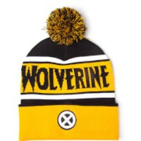 Marvel X-Men Men's Wolverine Beanie Hat with Pompom - Yellow - Wolverine Gifts