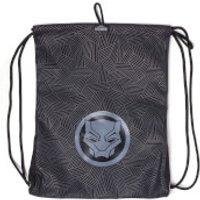 Marvel Black Panther Men's Rubber Print Gym Bag - Grey - Gym Gifts
