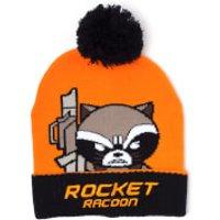 Marvel Guardians of the Galaxy Men's Kawaii Rocket Racoon Art Beanie Hat - Orange - Guardians Of The Galaxy Gifts