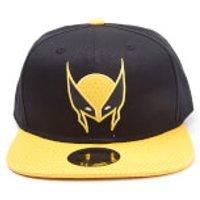 Marvel X-Men Men's Wolverine Mask Snapback Cap - Black - Wolverine Gifts