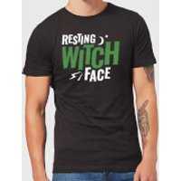 Resting Witch Face Mens T-Shirt - Black - S - Black