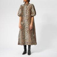 Ganni Women's Cedar Dress - Leopard - EU 40/UK 12 - Multi
