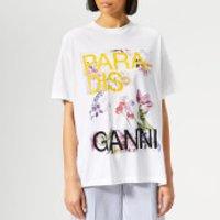 Ganni Women's Davies T-Shirt - Bright White - XS-S - White