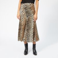 Ganni Women's Blakely Silk Skirt - Leopard - EU 34/UK 6 - Multi