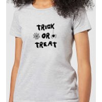 Halloween Trick or Treat Women's T-Shirt - Grey - XS - Grey - Halloween Gifts