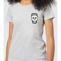 Halloween Skull Current Mood Women's T-Shirt - Grey - XXL - Grey