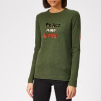 Bella Freud Women's Peace and Love Cashmere Jumper - Khaki - L - Green