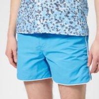 Orlebar Brown Men's Setter Piping Swim Shorts - Bahama Blue/White - L - Blue