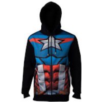 Marvel Avengers Men's Captain America Sublimated Hoody - Navy - M - Navy