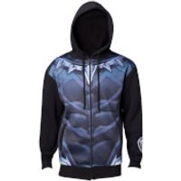 Marvel Black Panther Mens Sublimated Suit Hoody - Black - XXL - Black