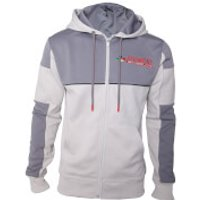 Nintendo SNES Men's Inspired Zip Through Hoody - Grey - XXL - Grey