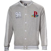 PlayStation Sony Men's Baseball Jacket - Grey - S - Grey - Sony Gifts