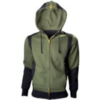 Nintendo The Legend of Zelda Men's Hyrule Crest Zip Through Hoody - Green - S - Green