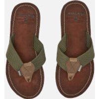 Barbour Men's Toeman Beach Toe Post Sandals - Olive - UK 7