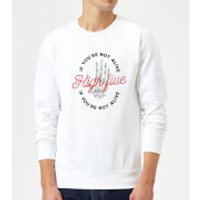Image of High Five If You're Not Alive Sweatshirt - White - XXL - White