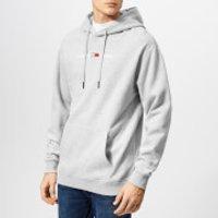 Tommy Jeans Men's Small Logo Hoody - Light Grey Heather - XL - Grey