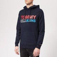 Tommy Jeans Men's Corporate Logo Hoody - Black Iris - XXL - Navy